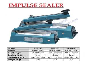 Hand impulse sealer Plastic